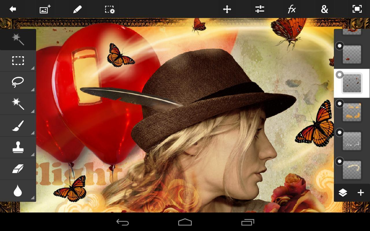 Обработка фотов Adobe Photoshop Touch