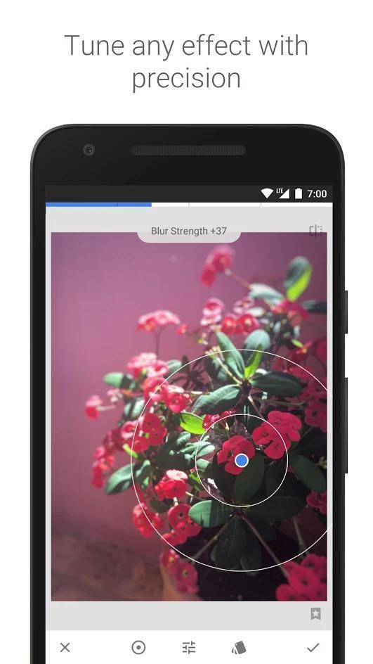 Сделать фото в Snapseed на андроид
