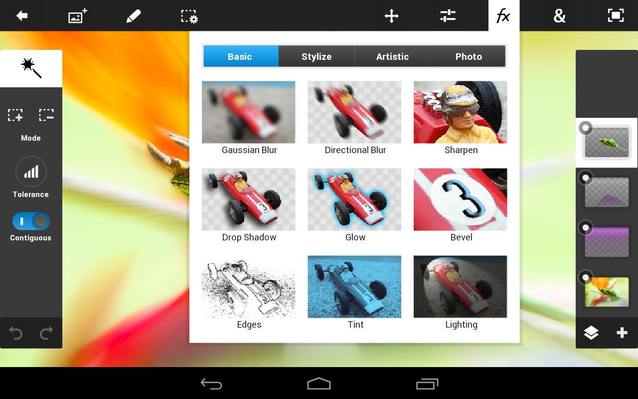 Совмещение фото в Adobe Photoshop Touch
