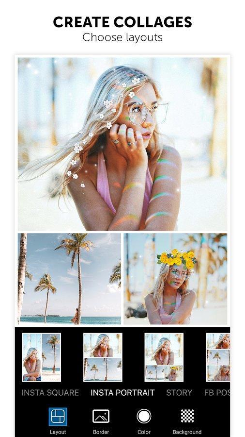 Создание коллажей в PicsArt