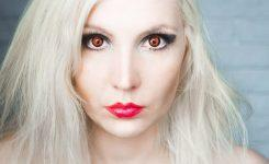 Как сделать красные глаза на фото?