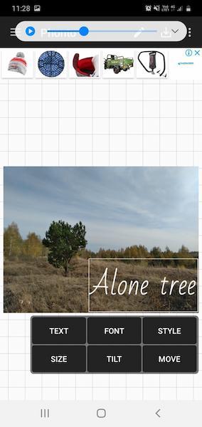 Добавление текста на фото в приложении Phonto